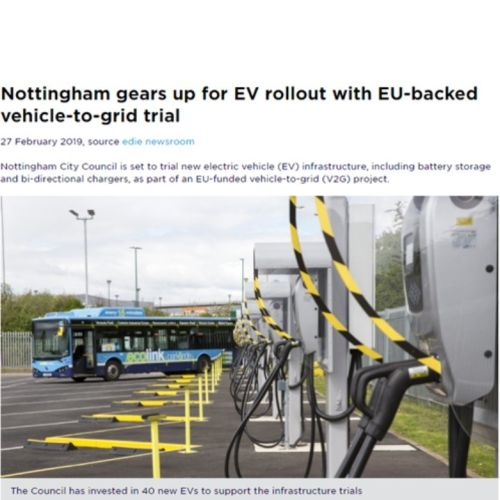 Edie.net: Nottingham gears up for EV rollout and vehicle-to-grid trial